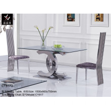 Deluxe Hotel Home & Restaurant Metal Dining Table (CT8173)