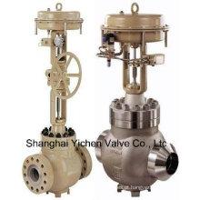 Válvula de controle pneumático de vapor de alta pressão e alta temperatura (ZJHM)