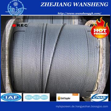 Zink beschichtet Stahldraht Strang 1X7-3.6mm