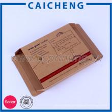 Reciclar la impresión de cajas de papel kraft plegables personalizados