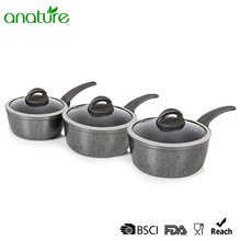 10 Years for Forged Aluminum Pizza Pan Forged 6 Pcs Marble Sauce Pan Cookware Set supply to Tunisia Exporter