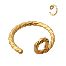 Hot selling 2020 316L surgical steel gold plated high polished simple non piercings nose hoop ring