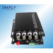 Transceptor óptico de video de 1/2/4/8 canal de bajo costo