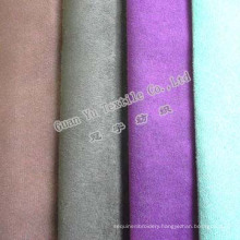 Polyester Embossed Faux Suede Curtain and Sofa Fabric