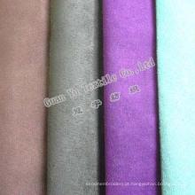 Cortina de poliéster da camurça do falso em alto-relevo e tecido de sofá