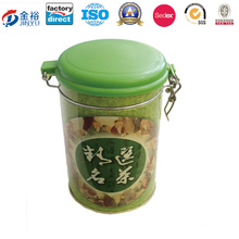 Round Airtight Tea Package Tin