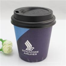 Copo de papel descartável impresso logotipo feito sob encomenda do café com tampas