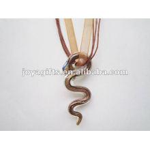Новый стиль Lampwork стеклянный кулон ожерелье Lampwork стекла ожерелье стеклянный флакон бутылки с шнуром воска