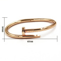 18k Gold Nagel Metall magnetischen Armband Armband