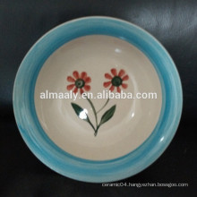 beautiful hand painted stoneware bowl