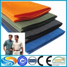 Tela de algodón de poliéster de fabricación barata para uniforme escolar