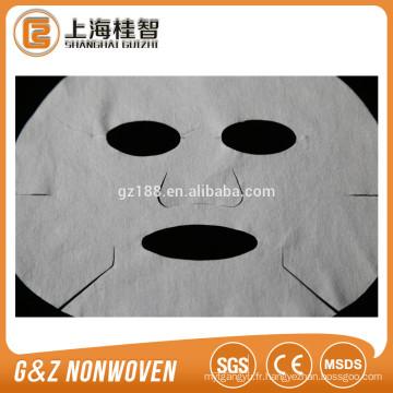 masque facial jetable cosmétique populaire de microfiber non tissé