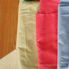 Usine en gros 100% coton / Poly coton blanc solide uni couleur tissu de literie