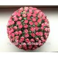 Yiwu gros haute qualité décorative belles boules de fleurs artificielles