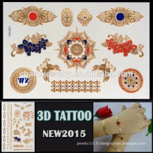 OEM gros design coloré tatouage belle conception papillon tatouage autocollant haute qualité 3d temporaire YH 021