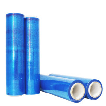 High quality PE clear soft blue stretch wrapping film