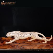 Estatua animal del leopardo de las estatuillas animales decorativas de la resina del arte de la alta calidad para la decoración casera