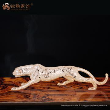 Figurines d'animaux décoratifs décoratifs de haute qualité statue de léopard pour décoration de maison