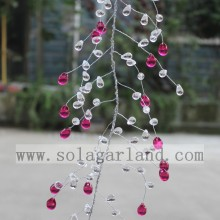 Acrylic Drop And Grape Seed Garland Tree Branches