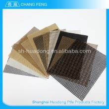 Tamaño China PTFE recubierto de fibra de vidrio malla cinta transportadora, protable banda transportadora de teflon, cinta transportadora modular plástico modificado para requisitos particulares