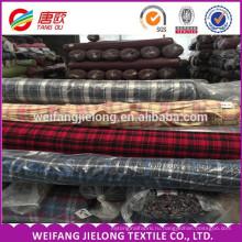 высокое качество 100% хлопчатобумажная пряжа покрашенная ткань фланель на рубашку с готовыми основная пряжа покрашенная ткань фланель с работ