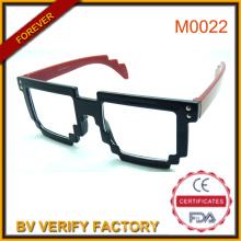 Partido clásico barato color gafas con marco de PC grandes M0022