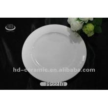 """10 """"placa de cerâmica de serviço, placa de cerâmica para o hotel, placa de porcelana branca por atacado"""