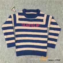 Slip color mangas largas Rond cuello suéter de la rebeca para niños