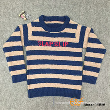 Slip color Long Sleeves Rond Neck Cardigan Sweater for Children