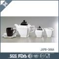 Personalizado preto e branco cerâmica elegante pote de chá conjunto de estilo árabe