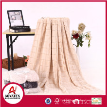 100% polyester brushed pv fleece blanket backside polar fleece blanker