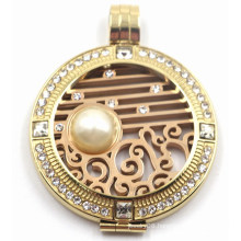 Fashion & New Design Stainless Steel Locket Pendant with Interchangeable Coinplate