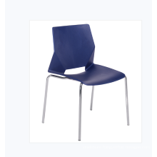 Factory Made Cheap Price  Seat Plastic Chair with Steel Frame