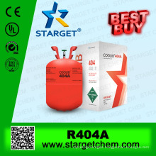 China manufacture blend refrigerant gas r404a with high purity 99.8% on sale
