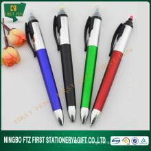 2 em 1 Plastic Pen Trade Show Giveaways