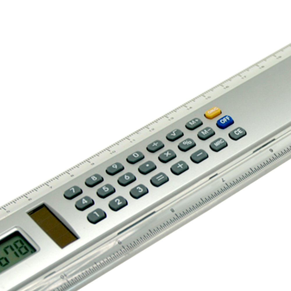 20cm 8 Digits Two Sides Calculator with Transparent Ruler
