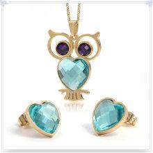 Accessoires de mode Bijoux fantaisie Ensemble de bijoux en acier inoxydable (JS0221)