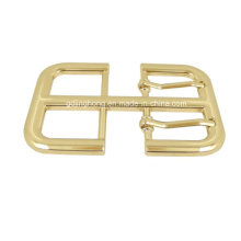 Golden Double Pins Belt Buckle