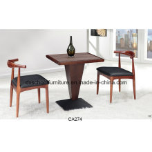 High Quality Ash Wood Dining Table with Cow Chair