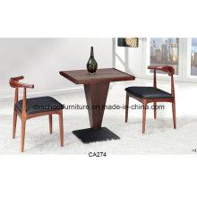 Высокое качество золы деревянный обеденный стол со стулом корова
