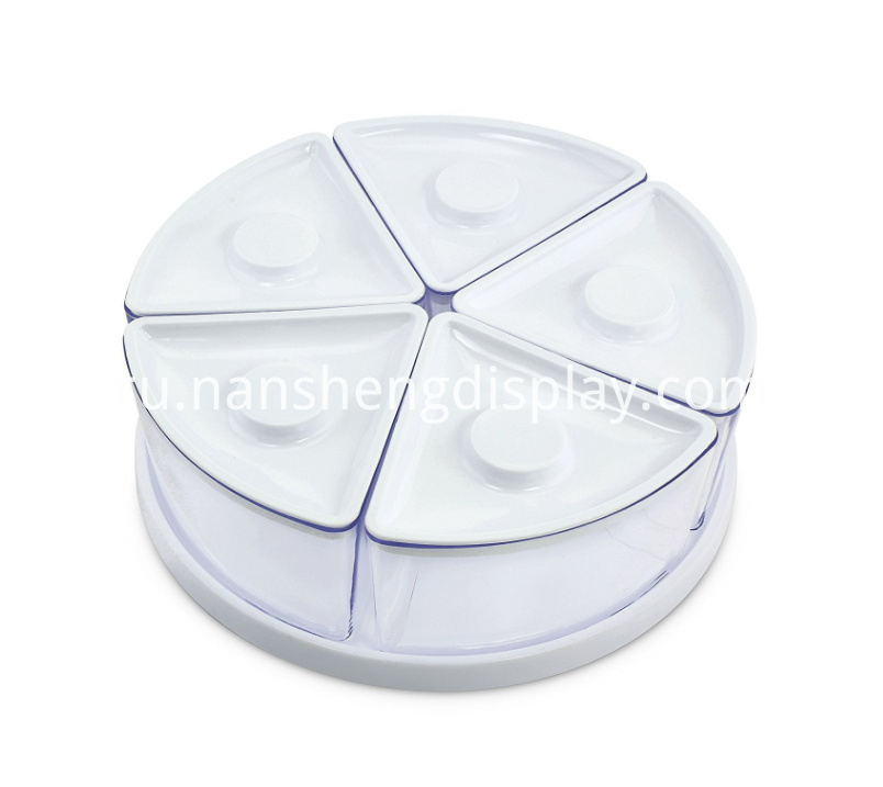 Clear White Food Storage Containers