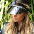 Chapéu com viseira solar de plástico Proteção ultravioleta no atacado