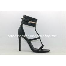 Fashion Sexy High Heels Leder Frauen Sandalen