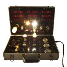 Fertigen Sie LED-Test-Kasten für Lampenfassung E27, E14, MR16, GU10, T8 T5 besonders an