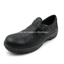 Lässige Sandale Stil Split geprägtes Leder Sicherheitsschuhe (HQ01022)