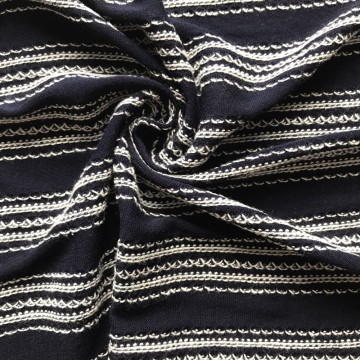 Low price for Ethnic Jacquard Knitting Fabric Rayon viscose cotton stripe Jacquard knitting jersey export to New Zealand Supplier