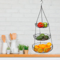 3-Tier Wire Basket Storage Stand For Fruit Vegetables Household Items Tiered Stand Baskets for Kitchen Organization