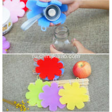 Silicone Flower Brush for Dishes Pot Soft Scrubber Sponge