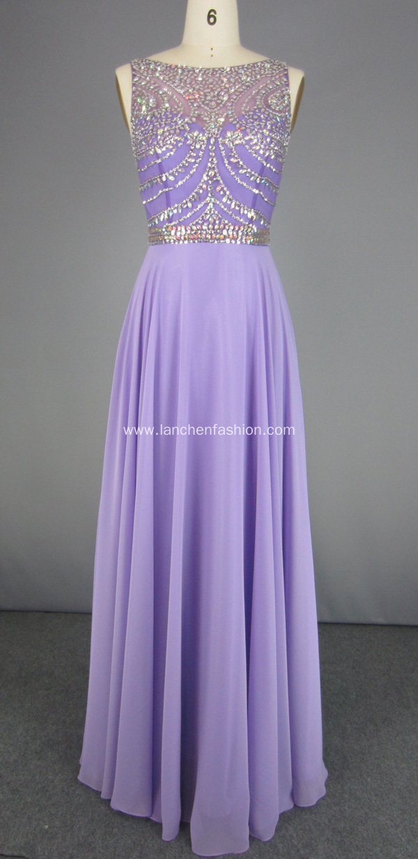 Purple A Line Prom Dresses Evening Gown