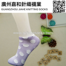 Fashion Jacquard Weave Polka-dots Cotton Girls Socks